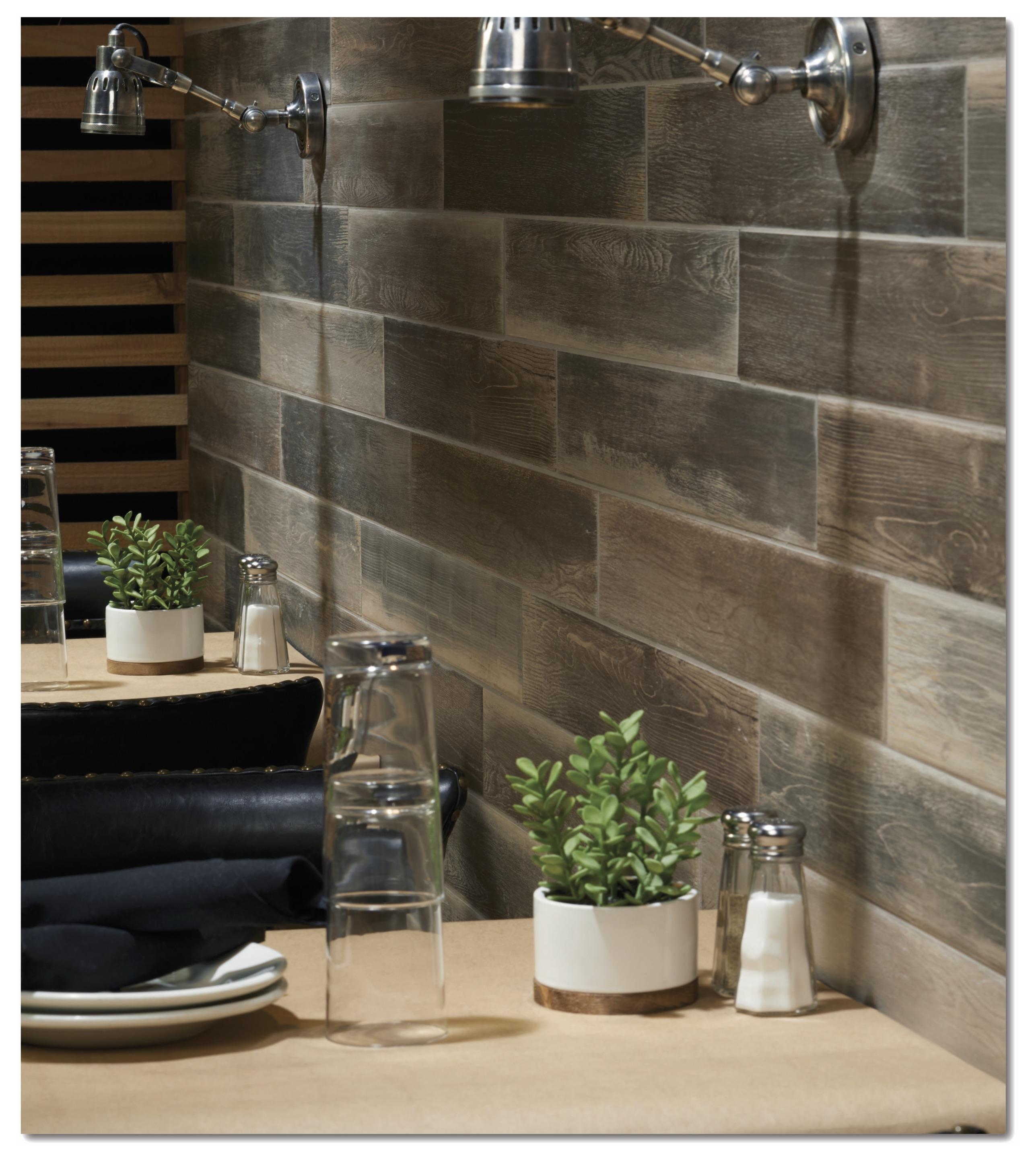 Marazzi Urban District Mix on restaurant wall