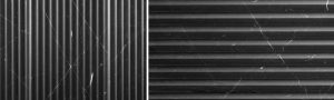 Artistic Tile Pinnacle black fluted tile