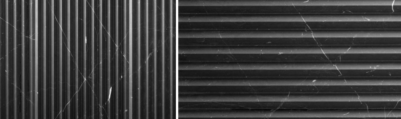 Pinnacle black fluted tile