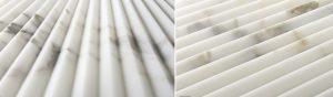 Artistic Tile Pinnacle white fluted tile