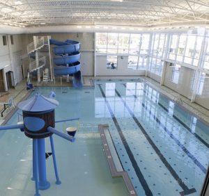 Photo of tile on YMCA pool deck