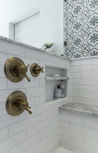 Photo of white subway tile in a bathroom