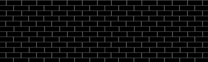 black subway tile with white grout