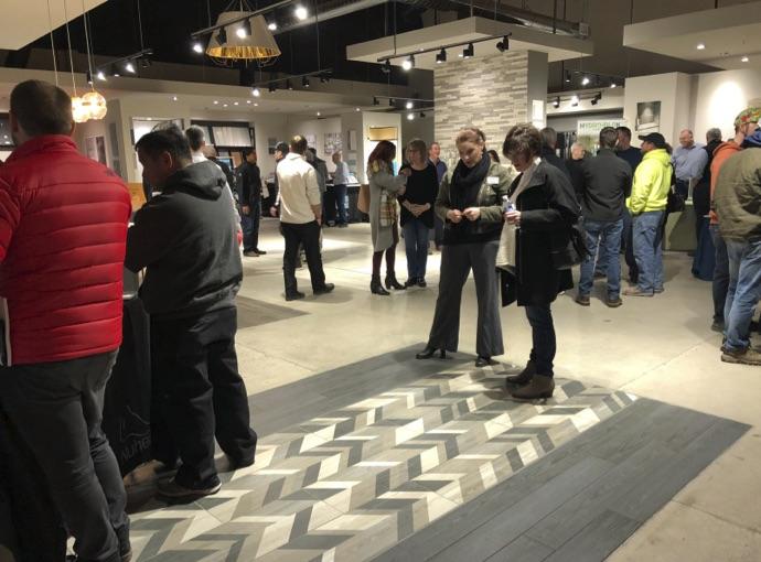 A pre-COVID Trade Night at United Tile.