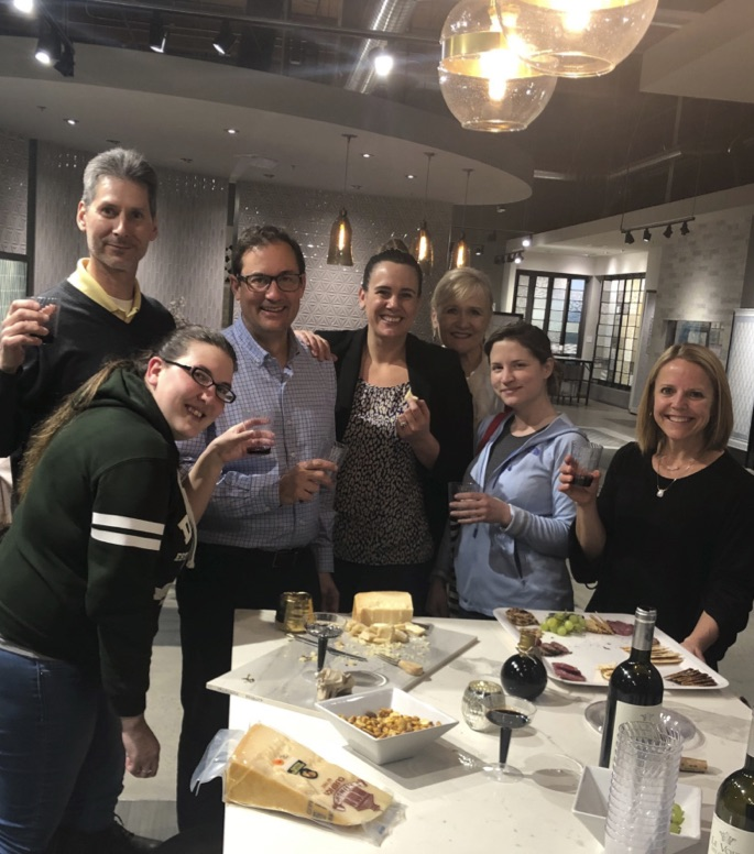United Tile employees at wine and cheese night