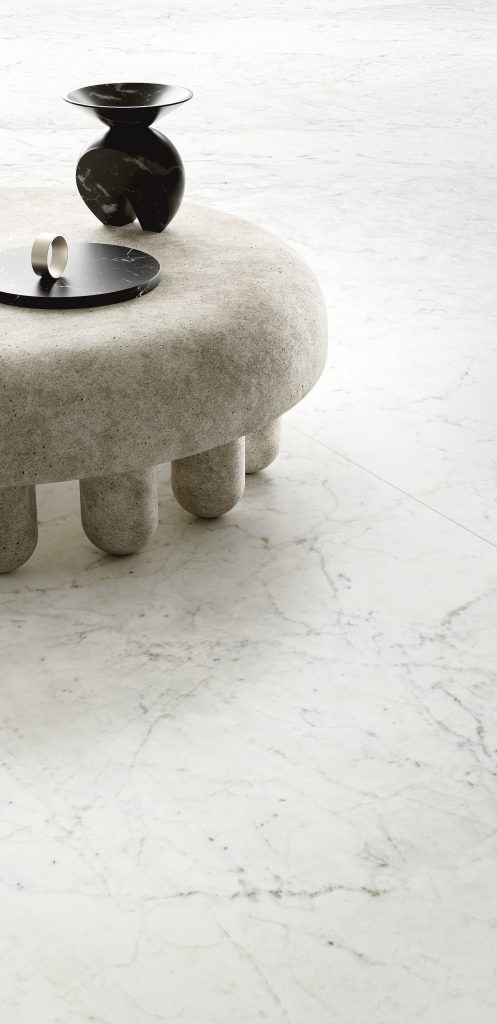 marble look floor with delicate veining