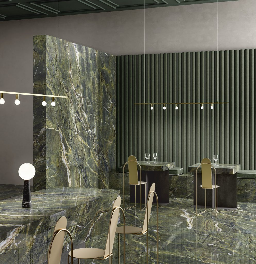 dark green marble look tile panels